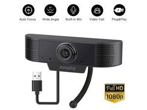 1080P Webcam with Microphone, Easyday USB 2.0 Desktop Laptop Computer Web Camera with Auto Light Correction, Plug and Play, for Windows Mac OS, for Video Streaming, Conference, Gaming, Online Classes