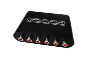 Digital DTS AC3 Optical to Analog 2.1 5.1 Surround Sound Audio Decoder Converter