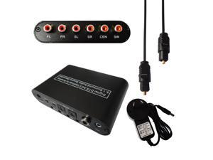 Dolby AC-3 DTS 5.1CH Audio Decoder Digital Optical Coaxial to RCA Analog Converter