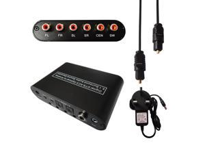 Digital to Analog 5.1 Audio Sound Decoder SPDIF RCA Dolby AC3 DTS Optical Coaxial Converter