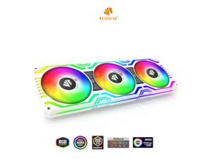 Asiahorse MATRIX-WHITE 58 Addressable RGB LEDs 360MM All-in-One Square Frame Integrated Fan With MB Sync/Analog Controller , Integrated PWM Control Fan for Computer Case and Liquid Cooling System