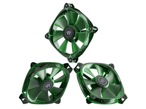 Asiahorse Fish-Bone Pwm Case Fans With A 1-To-4 Port Exquisite Splitter,120mm Quiet Computer Cooling PC Fans (3pack transparent Green)