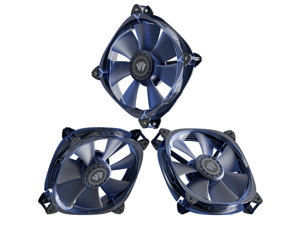 Asiahorse Fish-Bone Pwm Case Fans With A 1-To-4 Port Exquisite Splitter,120mm Quiet Computer Cooling PC Fans (3pack transparent Blue)