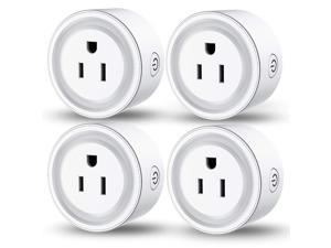 Smart Plug Compatible with Alexa Google Assistant Siri IFTTT, MagicLight WiFi App Control Timer Schedule Smart Outlet, No Hub Required, FCC Certified 1200W Smart WiFi Socket (4Pack)