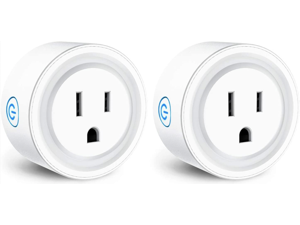 Smart Plug Compatible with Alexa Google Assistant Siri IFTTT, MagicLight WiFi App Control Timer Schedule Smart Outlet, No Hub Required, FCC Certified 1200W Smart WiFi Socket (2 Pack)