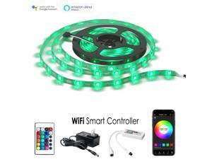 MagicLight LED Strip Lights, WiFi Wireless Smart Phone Controlled Light Strip Kit 16.4ft 150 LEDs 5050 Waterproof IP65 LED Lights, Works with Android and iOS System, IFTTT, Google Assistant and Alexa