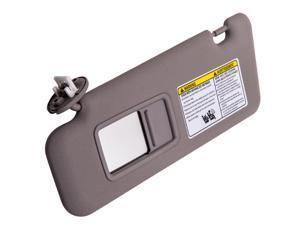 Left Driver Gray Sun Visor for Toyota Highlander 08-13 W/ Light 74320-48500-B0