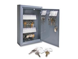 S.P. Richards Company Secure Key Cabinet, 8- x 2-5/8 x 12-1/8 Inches, 30 Keys, Gray (SPR15601)