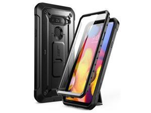 SUPCASE Full-Body Protective Case for LG V40, LG V40 ThinQ, with Built-in Screen Protector Kickstand &Holster Clip Design for LG V40/LG V40 ThinQ 2018 [Unicorn Beetle PRO Series] (Black)
