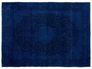 Bespoky Persian Handwoven Kilim Rug Blue Oversized 9'10'' X 13'5'' Ft