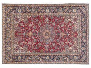 Bespoky Persian Handwoven Kilim Rug Naturel Oversized 9'6'' X 13'10'' Ft