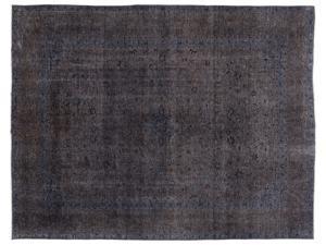 Bespoky Persian Handwoven Kilim Rug Gray Oversized 9'11'' X 13'5'' Ft