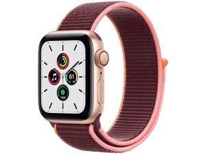 Apple Watch SE GPS & Cellular 44mm (Gold Aluminium Plum Sport Loop)