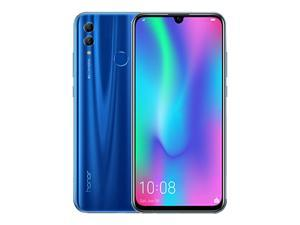 "Huawei Honor 10 lite (32GB + 3GB RAM) 6.21"" FHD 4G LTE GSM Factory Unlocked Smartphone - International Version No Warranty HRY-LX2 (Blue)"