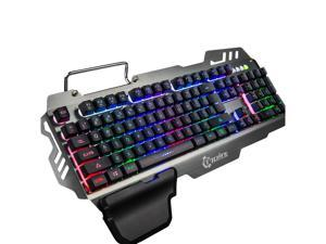 3661e726c1b 7pin PK-900 Gaming Keyboard RGB Backlight Computer Keyboard with Mobile ...
