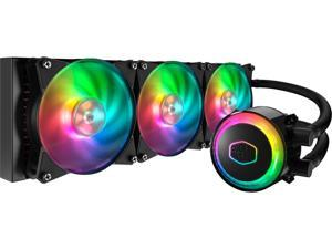 Cooler Master MasterLiquid ML360R Addressable RGB AIO CPU Liquid Cooler, 36 Independently-Controlled LEDS, Robust Sleeved FEP Tubing, Triple 120mm ARGB Air Balance MF