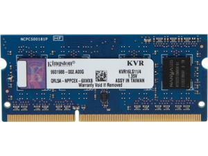 Kingston 4GB 204-Pin DDR3 SO-DIMM DDR3L 1600 (PC3L 12800) Laptop Memory Model KVR16LS11/4