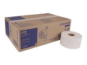 "Tork Advanced 12024402 Mini Jumbo Bath Tissue Roll, 2-Ply, 7.36"" Diameter, 3.55"" Width x 751' Length, White (Case of 12 Rolls, 751' per Roll, 9,012 Feet)"