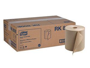 "Tork Universal RK800E Hardwound Paper Roll Towel, 1-Ply, 7.87"" Width x 800' Length, Natural (Case of 6 Rolls, 800 per Roll, 4,800 Feet)"