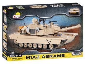 COBI Small Army Abrams M1A2 US Army Desert Tank 1:35 - Model Building Block Set # 2619