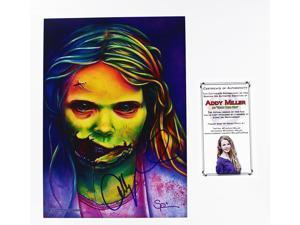 The Walking Dead Addy Miller As Teddy Bear Girl Autographed Art Print