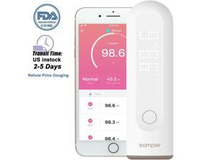 Comper Forehead Thermometer for Fever, Digital Infrared Temporal Thermometer with Fever Alarm and Memory Function for Baby Kids and Adults