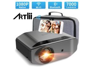"""1080P Projector Artlii Energon 2 LED 4K Supported 7000 Lumens Realistic Natural Color Reproduction WiFi Bluetooth Home Theater Projector 300"""" Display HDMI iPhone Android"""