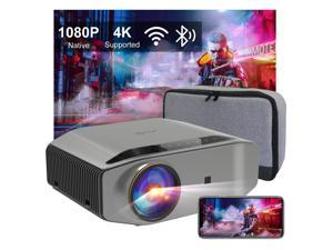 """5G WiFi Bluetooth Projector, Artlii Energon 2 Outdoor Projector Support 4K, 340 ANSI Lumen 300"""" Display, Keystone&Zoom, Full HD Native 1080P Projector Compatible w/ TV Stick, iOS, Android, PS5"""