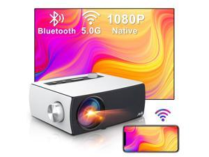 Portable 5G WiFi Bluetooth Projector, Artlii Enjoy 3 Full HD Native 1080P Projector, Supports Zoom&Keystone, Outdoor Projector Compatible with TV Stick/iOS/Android/PS4/PPT/HDMI/USB