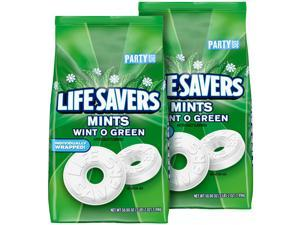 LIFE SAVERS Mints Wint-O-Green Hard Candy 50-Ounce Party Size Bag (Pack of 2)