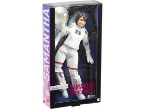Barbie Signature Role Models ESA Astronaut Samantha Cristoforetti Doll (11.5-in Brunette) Wearing Realistic Spacesuit, Gift for 6 Year Olds and Up