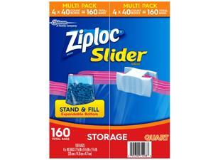 Ziploc Storage Slider Quart Bags (160 ct.)