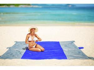 Oversized Beach Blanket Sand Free Beach Mat, 10'x 9' for 7 Adults, Ultra Lightweight