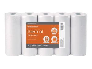 Office Depot Thermal Paper Rolls, 3 1/8in. x 230ft., White, Pack Of 10, 109282