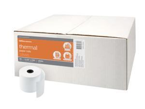 Office Depot Thermal Paper Rolls, 3 1/8in. x 230ft., White, Carton Of 50, 818629