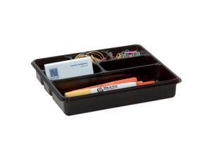Office Depot 6-Compartment Utility Tray, 8in. x 9in., Black, 59769