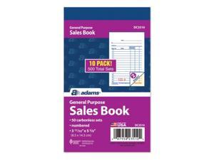 "Adams 2-Part Carbonless Sales Orders Book 5.63""L x 3.34""W 50 Forms/Book 509037"