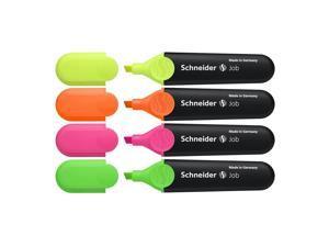 Job Highlighter, Chisel Tip, 1 To 5mm, 4/PK, Multi STW01500