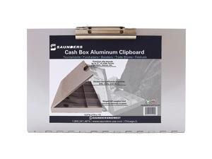 Saunders Cash Box Clipboard - Heavy Duty - Aluminum - 1 Each  SAU55100