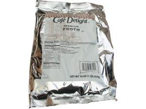 Café Delight Premium Frothy Topping, 1 Lb, Pack Of 12