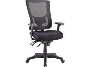 Lorell LLR62000 Multifunctional Mesh High Back Executive Chair - Black