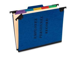 """Pendaflex® Hanging-Style Personnel Folder, 9 1/2"""" x 11 3/4"""", 2"""" Expansion, 65% Recycled , Blue"""