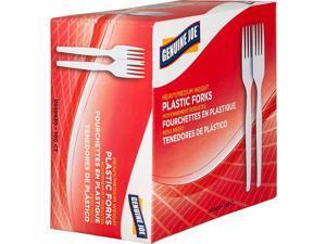 Plastic Forks Heavyweight 100/BX White