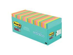 "Post it® Notes Super Sticky Notes, 3"" x 3"", Miami, Pack Of 24 Pads"