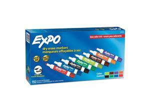 EXPO® Low-Odor Dry-Erase Markers, Chisel Tip, Assorted Colors, Pack Of 192