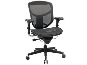 WorkPro® Quantum 9000 Ergonomic Mesh/Nylon Managerial Mid-Back Chair, Black