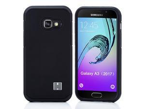 32nd Slim Armor Defender Case Cover for Samsung Galaxy A3 (2017) - Black