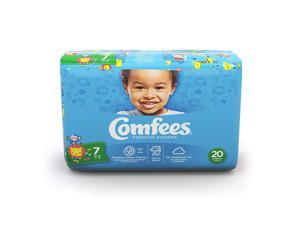 Attends Baby Diaper Comfees Tab Closure Size 7, 41+lbs, 20/Pack