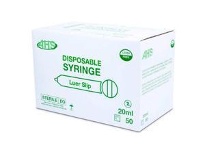 Syringe 20Cc Luer Slip 50/Box