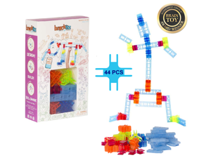 Brackitz Inventor: STEM Building Toy for Boys & Girls Ages 3 and Up - 44 Pc Set